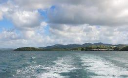 Les Trois Ilets - Fort-de-France - Martinique - tropisk ö av det karibiska havet Arkivfoto