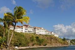 Les Trois-Ilets, la Martinique, - résidence de Hauts-Créoles de Les en La Pointe du Bout photographie stock