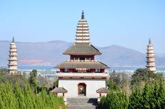 Trois pagodas Photographie stock libre de droits