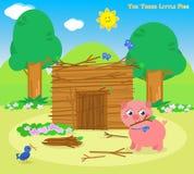 Les trois petits porcs 5 : la maison de bâtons illustration de vecteur