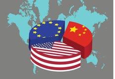 Les trois puissances économiques Photos stock