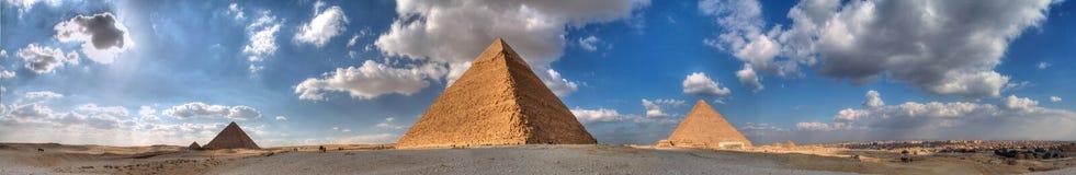 Les trois pyramides grandes de Giza Images libres de droits