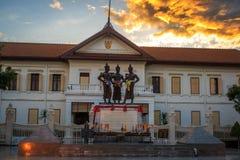 Les trois Rois Monument, Chiang Mai Images stock