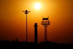 Les trois tours au coucher du soleil. Photo libre de droits