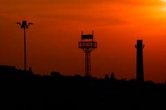Les trois tours au coucher du soleil. Images libres de droits