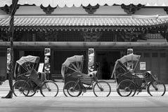 Les trois Trishaws Photos stock