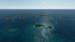 Îles tropicales dans l'océan Image libre de droits