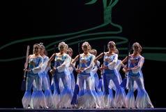 Les troupes d'art de HAIZHENG exécutent la danse de groupe \ Image libre de droits
