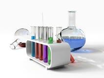Les tubes de tust de laboratoire Photographie stock