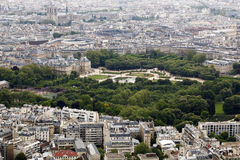 Les Tuileries. Park and Louvre in Paris, France Royalty Free Stock Photography