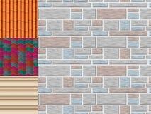 Les tuiles de toit de la texture et du détail classiques logent l'illustration matérielle de vecteur de modèle sans couture Photo libre de droits