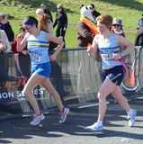 Les turbines concurrencent dans de marathon 2012 de rock d'Edimbourg demi Photo libre de droits