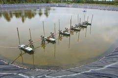 Les turbines d'aération dans l'eau Photos libres de droits