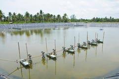Les turbines d'aération dans l'eau Image stock
