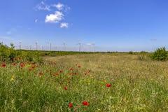 Les turbines de vent dans le domaine image libre de droits