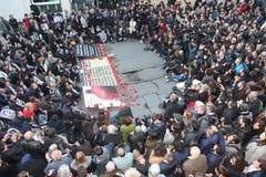 Les Turcs, Arméniens commémorent l''genocide' arménien dans Ä°stanbul Photographie stock