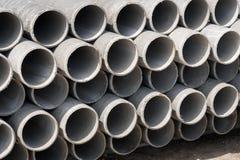 Les tuyaux d'amiante-ciment Image stock