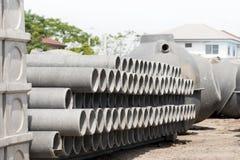 Les tuyaux d'amiante-ciment Image libre de droits