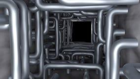 Les tuyaux dans le tunnel rendent Photographie stock