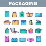 Les types d'emballage dirigent la discrimination raciale ensemble d'icônes illustration de vecteur