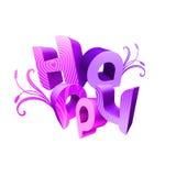 Les types illustrés par jour heureux violette de Valentine d'II Image stock