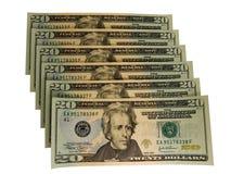 Les USA 20 billets d'un dollar Image libre de droits