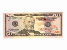 Les USA billets de cinquante dollars Image libre de droits