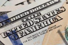 Les USA cent éléments du dollar, macro superbe, se ferment vers le haut de la photo images stock