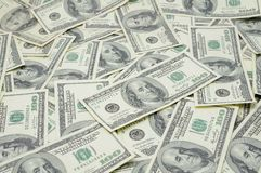 Les USA cents billets d'un dollar Image libre de droits
