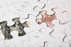 Les USA et euro argent Photos libres de droits