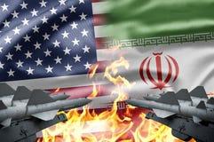 Les USA et l'Iran Photos stock