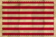 Les USA Jack naval sur le papier chiffonné photographie stock libre de droits