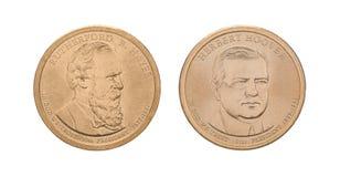 Les USA présidentiels - pièces de monnaie du 1 dollar Images stock