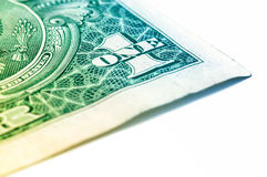Les USA un macro de plan rapproché de billet d'un dollar, 1 USD de billet de banque Photo stock