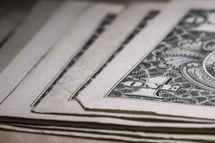 Les USA un macro de plan rapproché de billet d'un dollar, 1 USD de billet de banque, argent des Etats-Unis Photographie stock