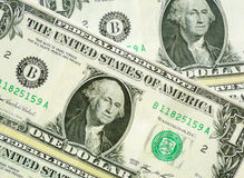 Les USA un macro de plan rapproché de billet d'un dollar Photos stock