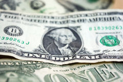 Les USA un plan rapproché de billet d'un dollar USD de billet de banque Verticale de George Washington Argent des Etats-Unis Photo libre de droits