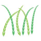 Les usines ic?ne, symbole de riz, pousse des feuilles illustration libre de droits