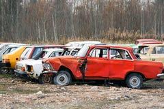Les véhicules cassés Images stock