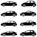 Les véhicules silhouettent le positionnement Photos libres de droits