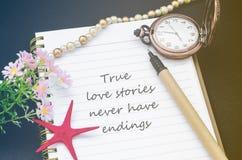 Les véritables histoires d'amour n'ont jamais des fins Image stock