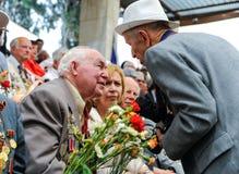 Les vétérans de la deuxième guerre mondiale à la célébration de la 9ème peuvent Photos libres de droits
