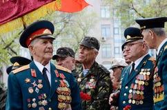 Les vétérans de la grande guerre patriotique sont venus pour célébrer Victory Day sur 9 de mai, Odessa, Ukraine Images stock