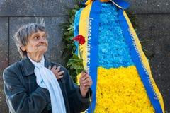 Les vétérans, le patriote, l'ortodox et le comunist célèbrent picefully Vict Images libres de droits