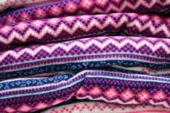 Les vêtements de laine polaire Photos stock