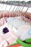 Les vêtements des enfants Image stock