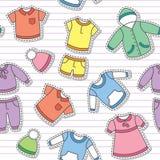 Les vêtements des enfants illustration de vecteur