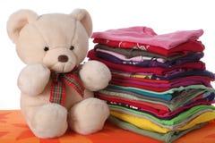 Les vêtements des enfants repassés Photos libres de droits