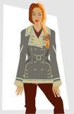 Les vêtements des femmes de l'hiver. Image stock