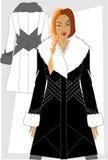 Les vêtements des femmes de l'hiver. Images stock